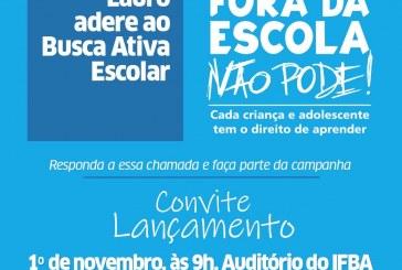 Lauro de Freitas lança Programa Busca Ativa Escolar no dia 1º