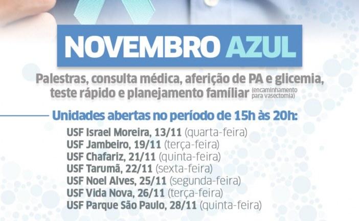 Postos de Saúde ampliam horário de funcionamento durante o Novembro Azul em Lauro de Freitas