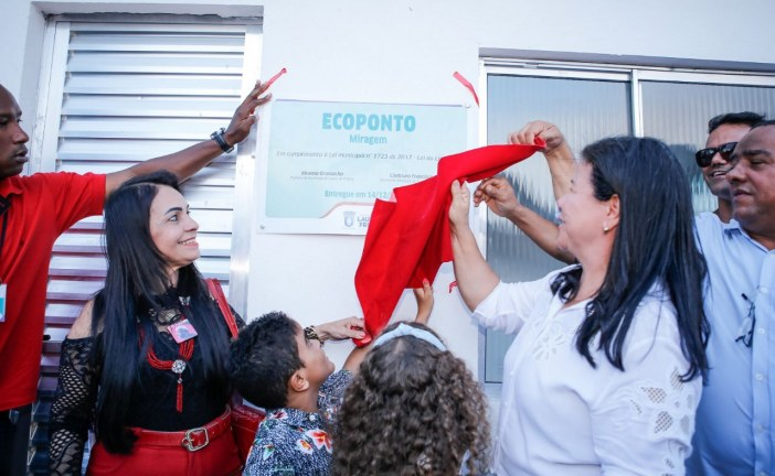 Primeiro Ecoponto de Lauro de Freitas foi inaugurado neste sábado (14), no Loteamento Miragem