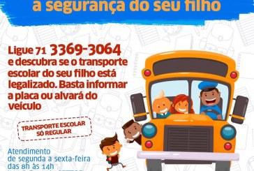 Quer saber se o transporte escolar do seu filho está legalizado? Entre em contato com a SETTOP