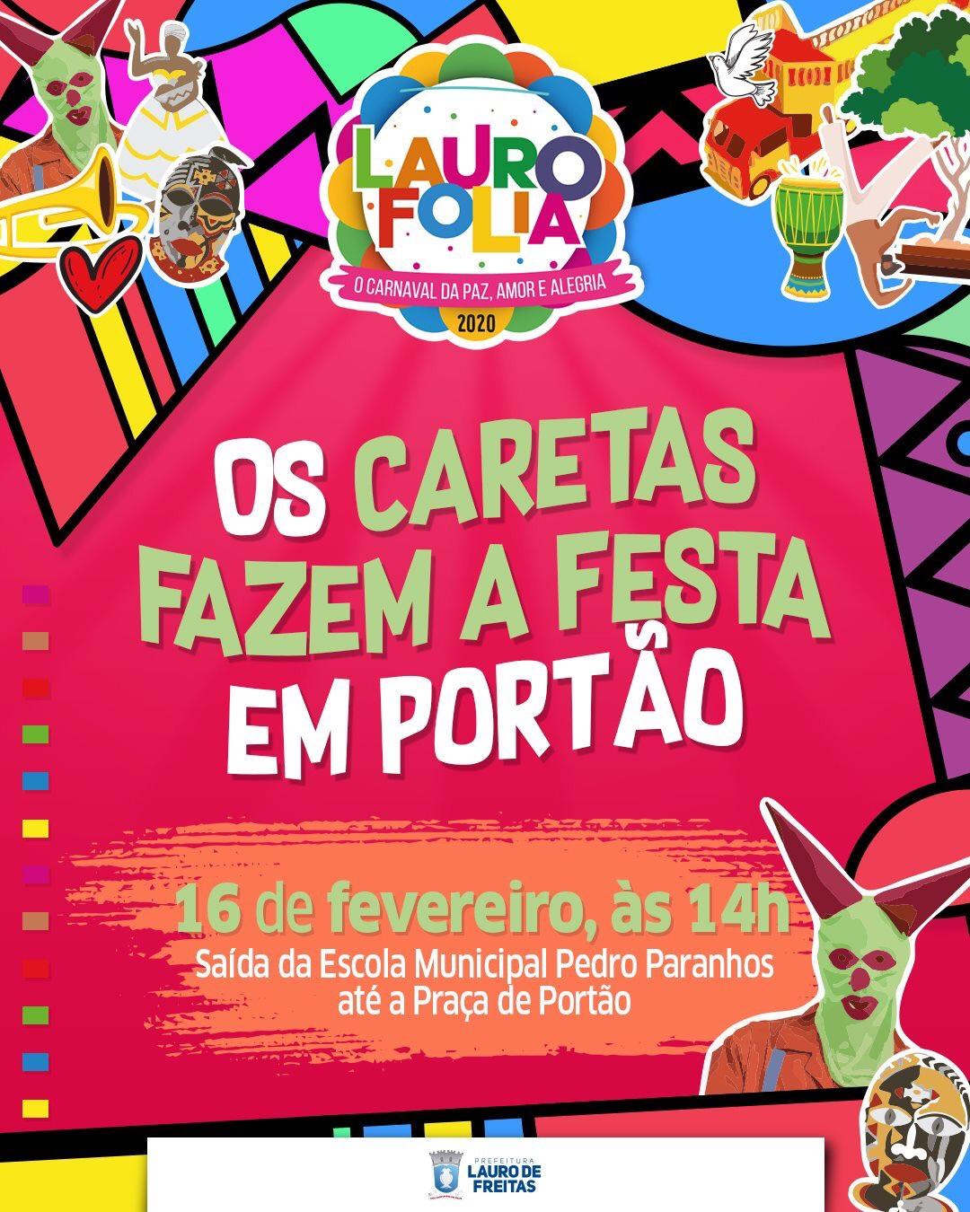 Caretas reforçam tradição no Carnaval de Portão neste domingo (16)