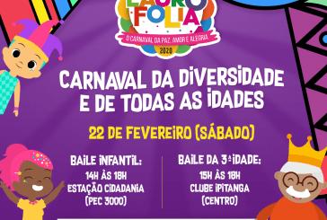 Lauro Folia tem programação especial para o público infantil e 3ª idade