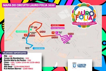 Quer saber como entrar e sair do circuito do Carnaval de Lauro de Freitas? Veja o mapa