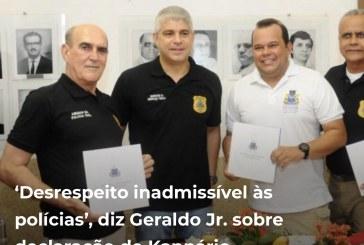 'Desrespeito inadmissível às polícias', diz Geraldo Jr. sobre declaração de Kannário