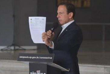 Não sigam orientações do presidente da República, diz Doria