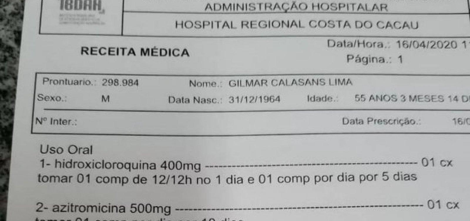 Sesab abre sindicância para apurar liberação de hidroxicloroquina a médico que morreu com Covid-19