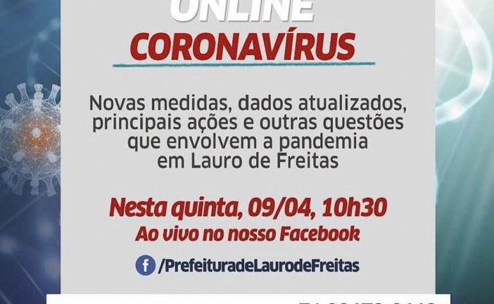 Prefeita Moema Gramacho apresenta dados atualizados sobre o coronavírus no município, nesta quinta (9)