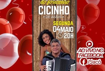 Deputado Jacó promove live solidária com o sanfoneiro Cicinho de Assis