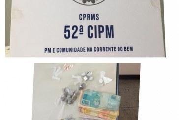 52ª realiza prisão em flagrante por tráfico de drogas em Portão