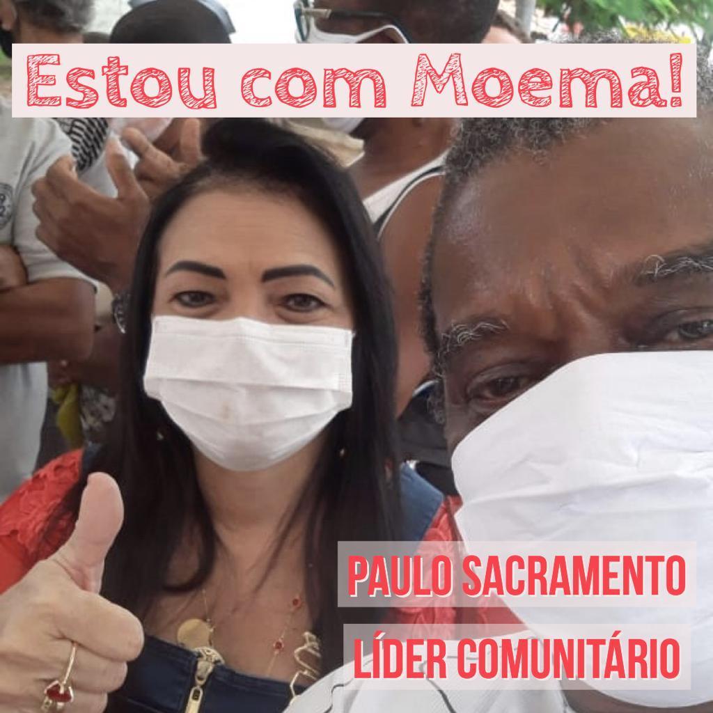 Liderança Paulo Sacramento retira pré-candidatura de vereador e reafirma o compromisso com a prefeita Moema Gramacho