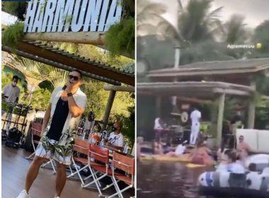 Após críticas, Xanddy desabafa sobre aglomeração em live: 'Fica aí a lição'