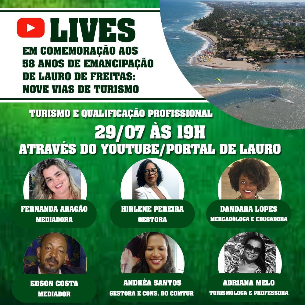 Lives em comemoração aos 58 anos de Emancipação de Lauro de Freitas; confira