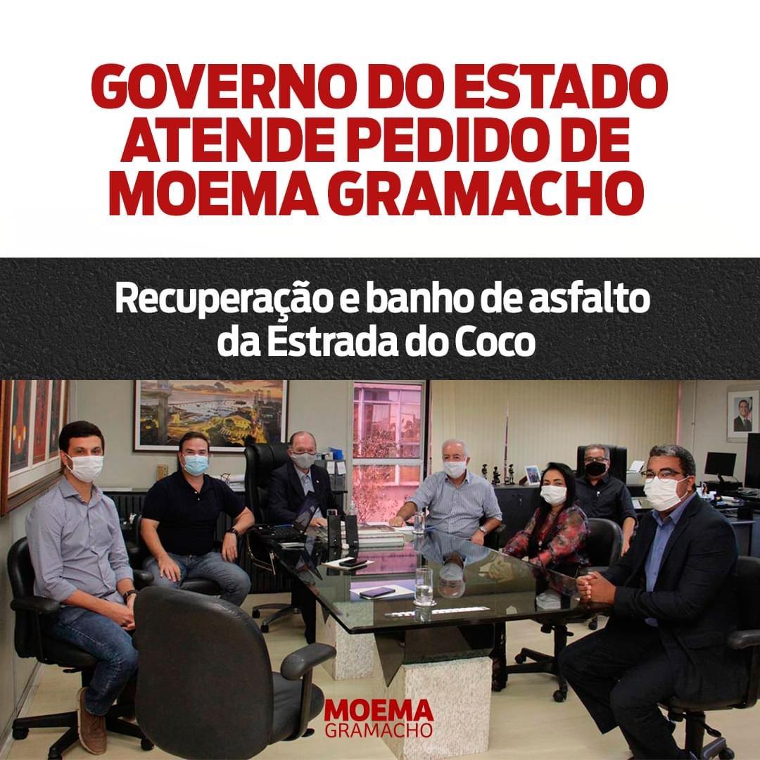 Governo do Estado atende pedido de Moema Gramacho: Recuperação e banho de asfalto da Estrada do Coco