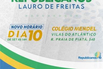 Republicanos 10 de Lauro de Freitas realiza sua convenção proporcional no dia, 10