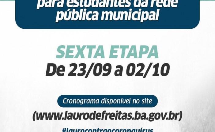 Prefeitura de Lauro de Freitas inicia nesta quarta, 23, a entrega da 6ª etapa do kit alimentação da rede pública municipal