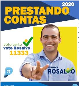 Vereador Rosalvo divulga revista que presta conta do seu mandato; confira