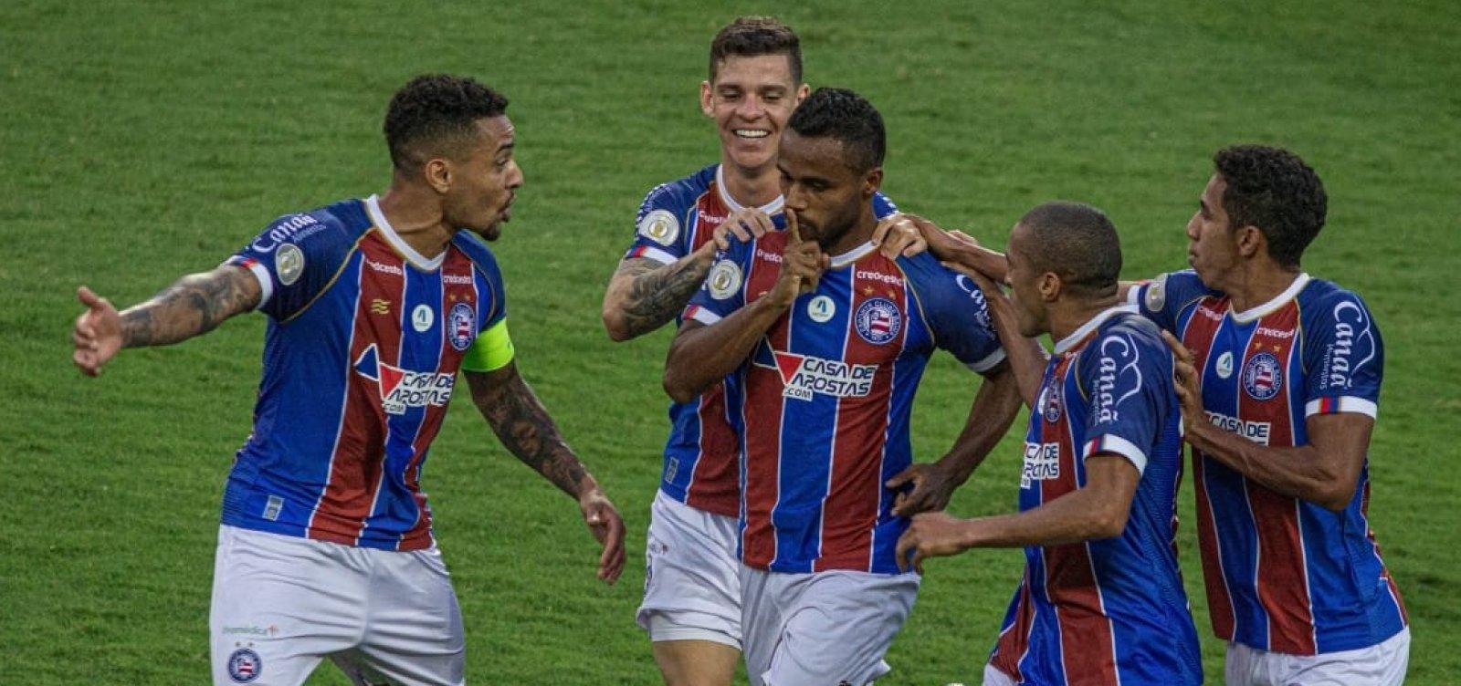 Bahia vence o Coritiba por 2 a 1 de virada fora de casa