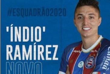 'Índio Ramírez' tem nome publicado no BID e pode estrear pelo Bahia