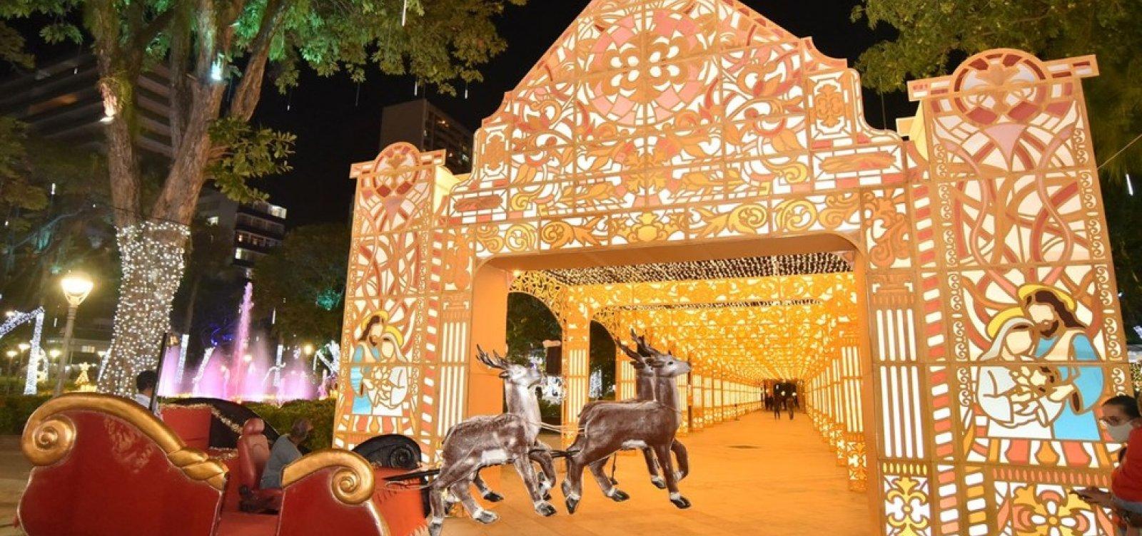 Salvador: Decoração de natal no Campo Grande só poderá ser visitado através de agendamento