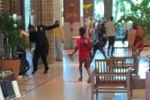 Impedido de ação irregular, grupo de adolescentes agride segurança de shopping em Salvador; assista