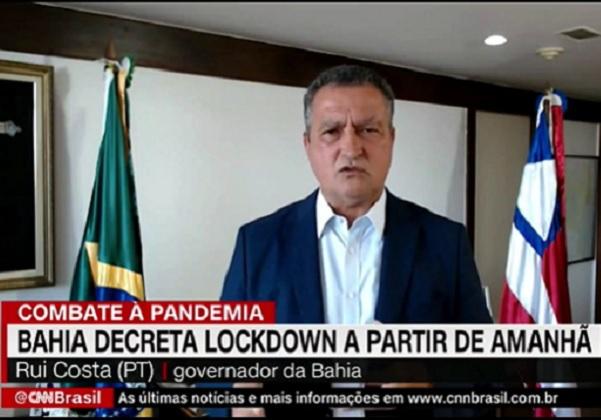 'Estamos entrando em colapso', diz Rui Costa sobre situação do coronavírus na Bahia
