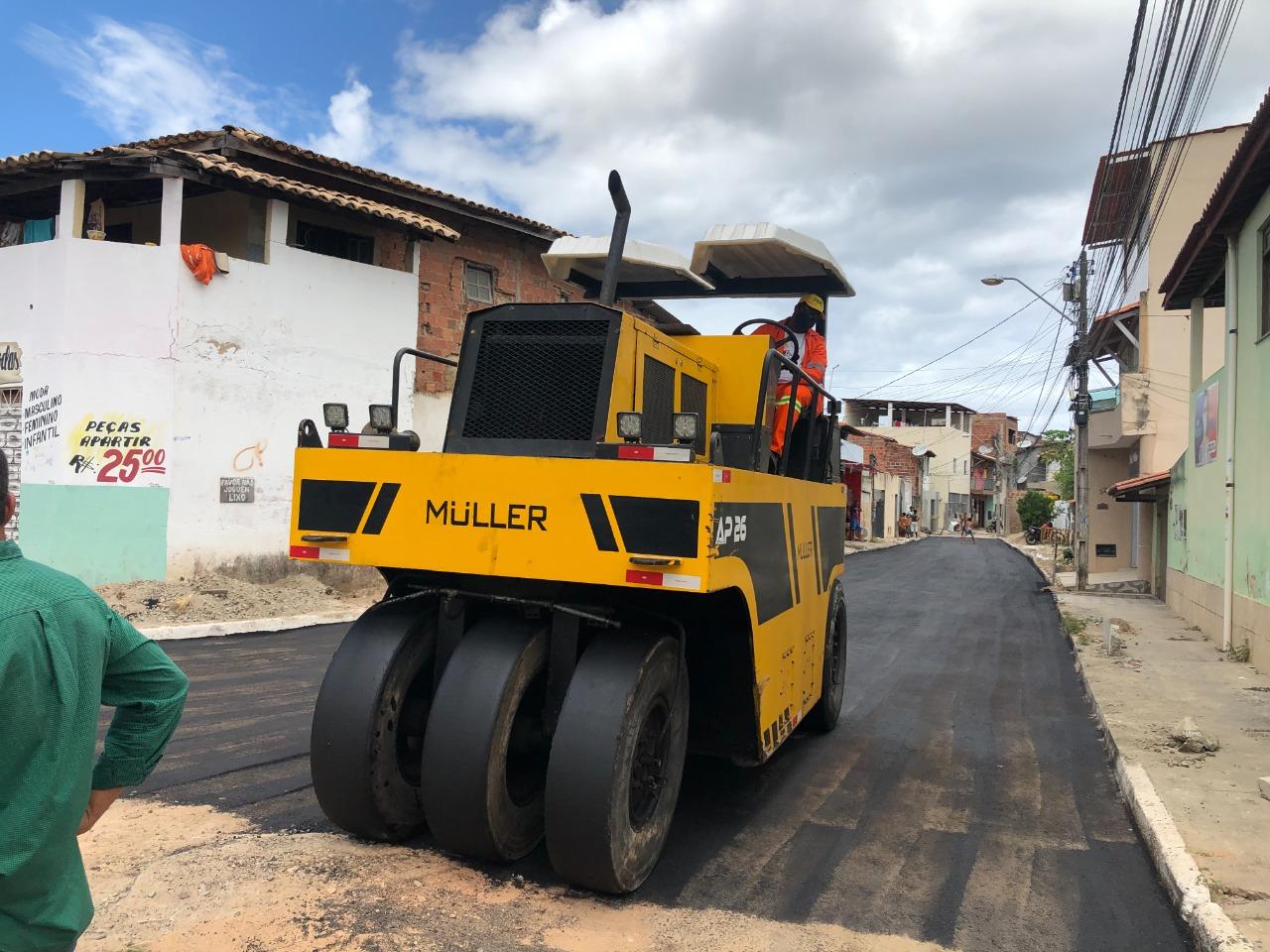 Prefeitura inicia pavimentação asfáltica de mais duas ruas em Portão