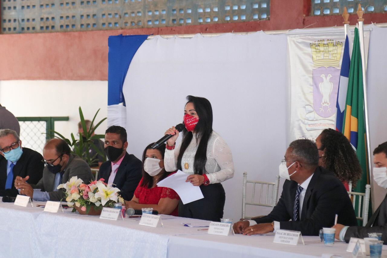 Prefeita apresenta metas do mandato e conclama vereadores a unir forças no enfrentamento da pandemia