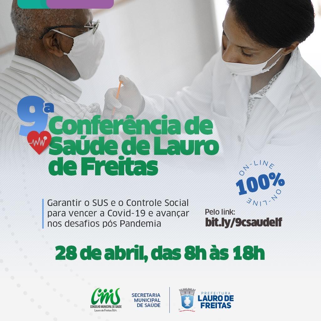 Lauro de Freitas aborda defesa do SUS, Covid-19 e desafios pós-pandemia na 9ª Conferência Municipal de Saúde nesta quarta (28)