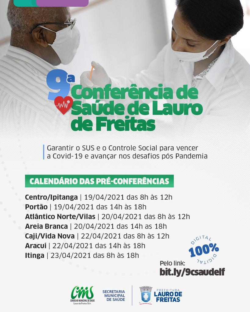 Pré-Conferências virtuais levantam propostas para a Saúde no município. Quatro regiões já foram ouvidas