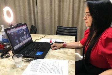 Prefeita cobra ampliação e celeridade no envio da vacina contra a Covid-19 durante abertura da Conferência de Saúde em Lauro de Freitas