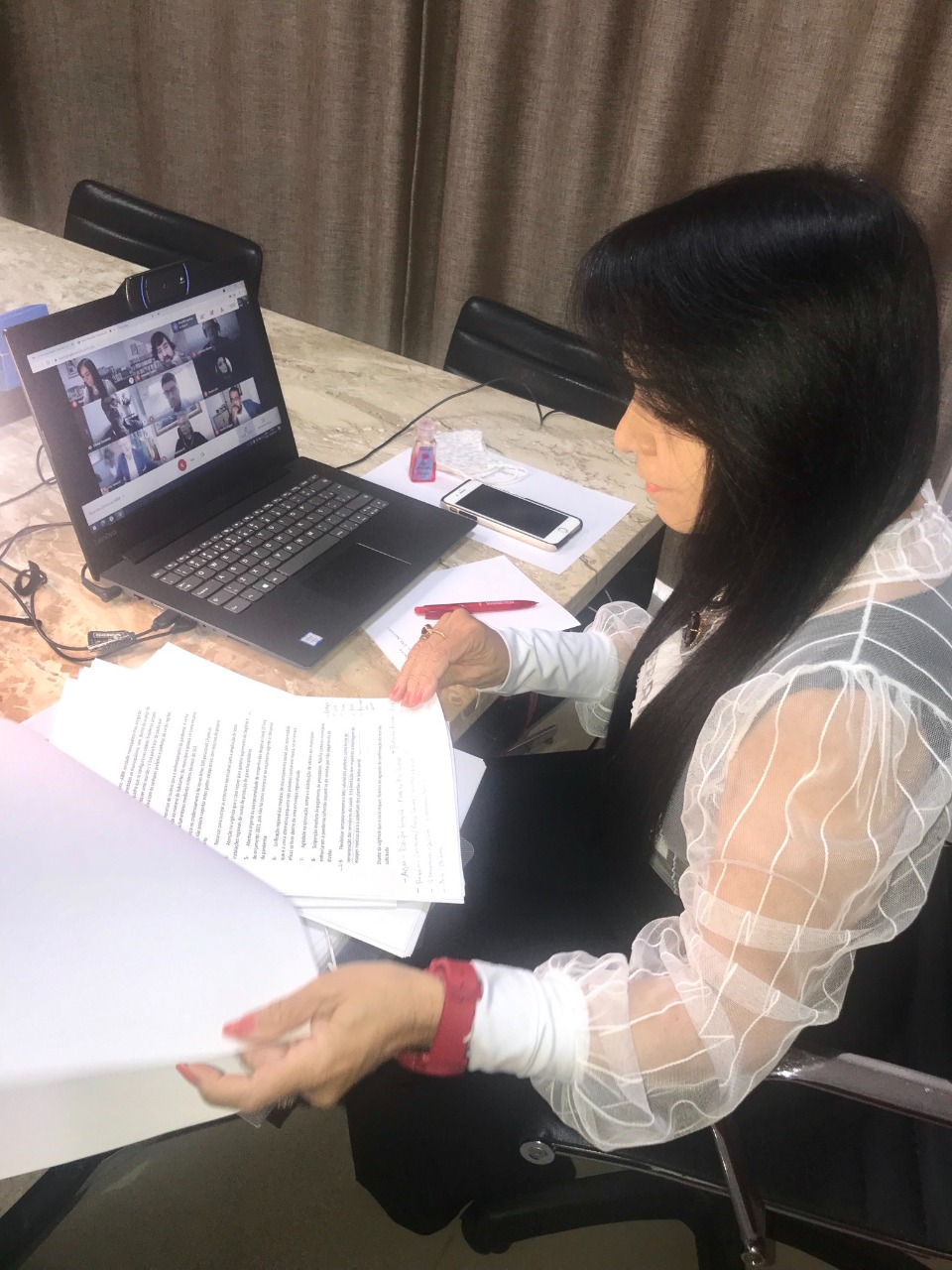 Moema participa de reunião da Associação Brasileira de Municípios (ABM). Situação econômica e o atraso da vacina foram alguns assuntos debatidos durante reunião virtual