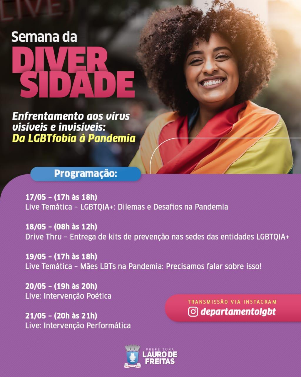 'Semana da Diversidade' reforça direitos e lutas da comunidade LGBTQIA+ em Lauro de Freitas