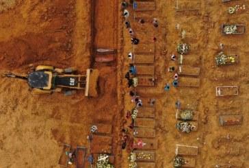 Brasil registra 2.216 mortes em 24h e tem maior média móvel em nove dias