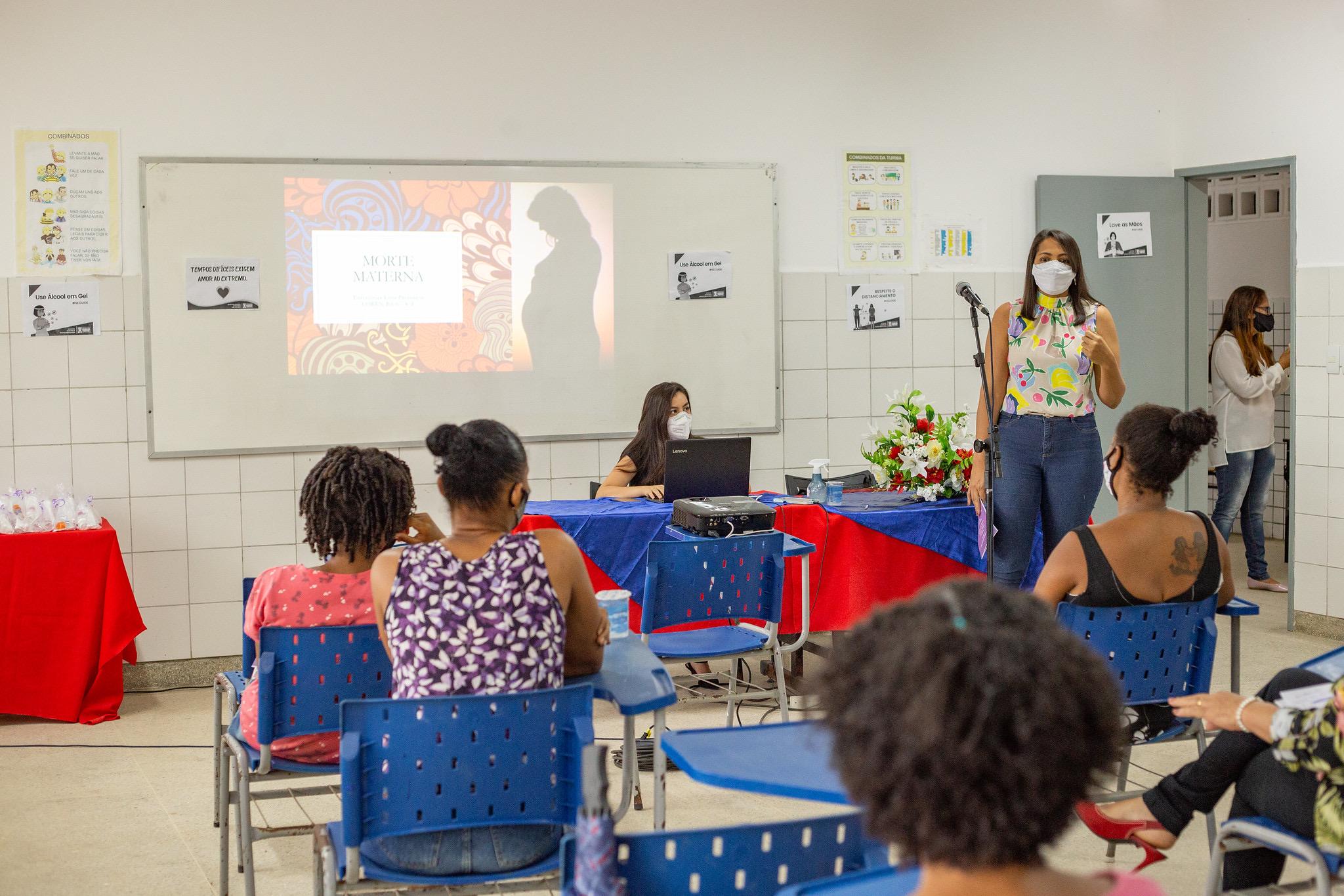 Palestra leva informação sobre mortalidade materna e reforça a importância do pré-natal em Lauro de Freitas