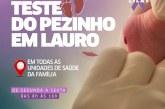 JUNHO LILÁS: teste do pezinho é realizado em todas as USF de Lauro de Freitas