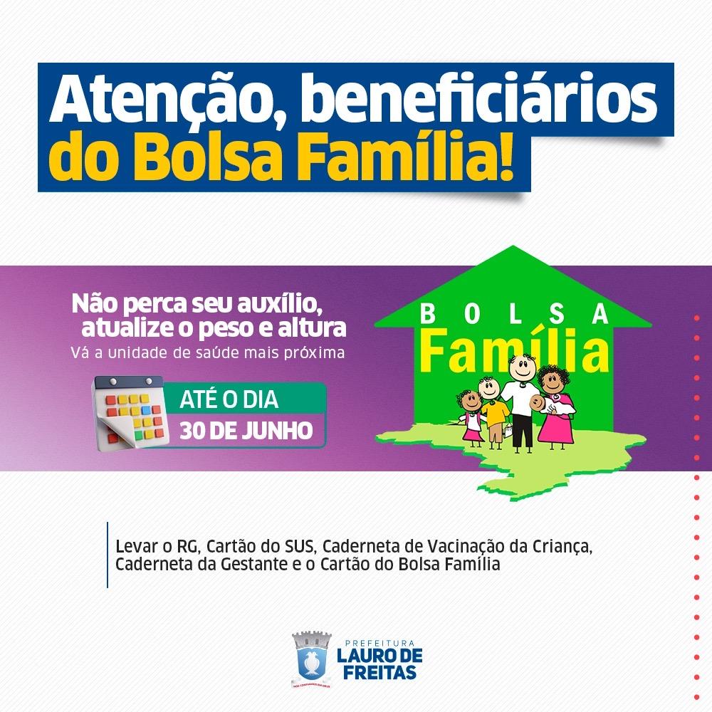 Lauro de Freitas convoca beneficiários do Bolsa Família para atualização do peso e altura de crianças