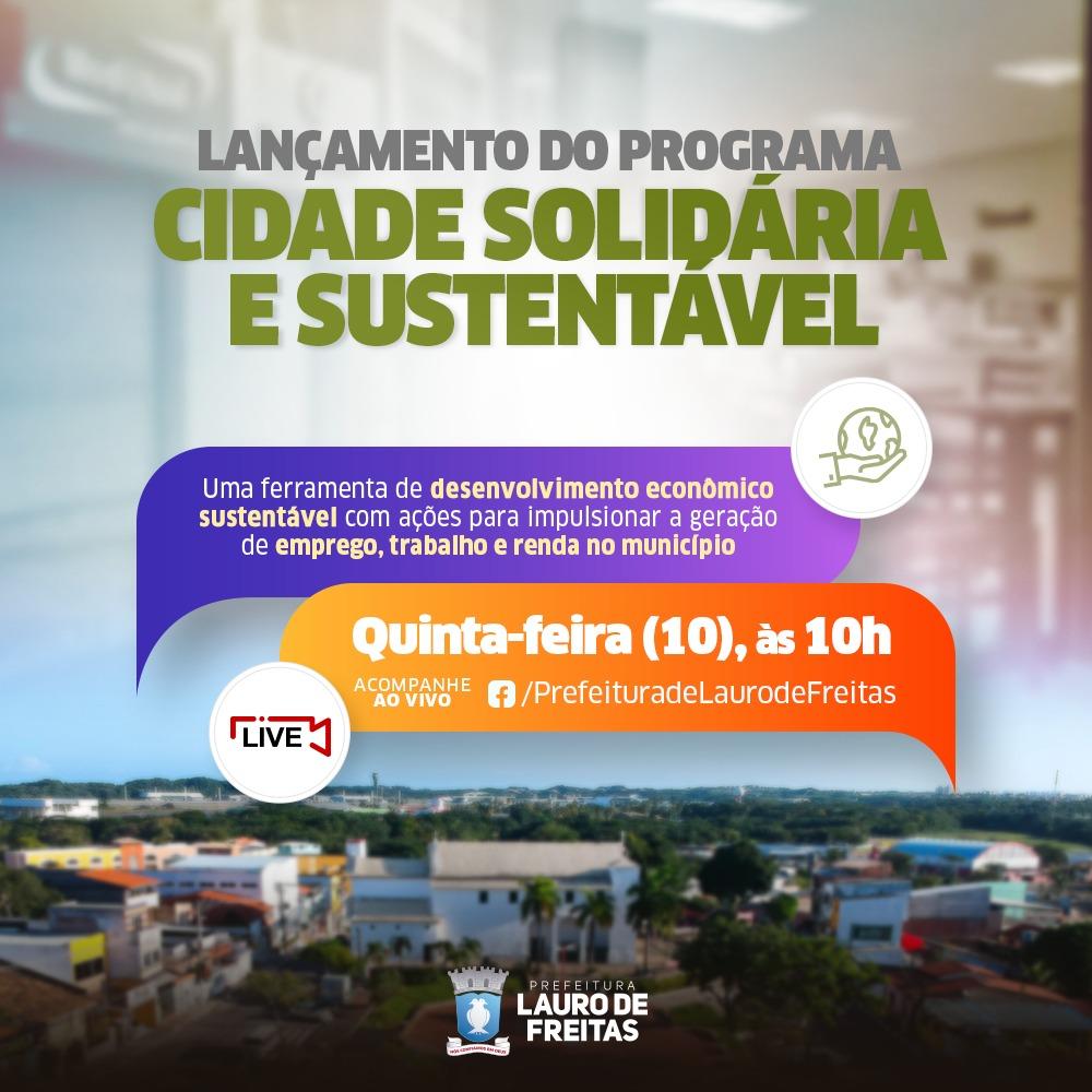 Prefeitura de Lauro de Freitas lança nesta quinta-feira programa para impulsionar a geração de emprego e renda