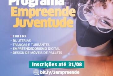 No mês dedicado aos jovens, Programa 'Empreende Juventude' abre inscrições para capacitação profissional