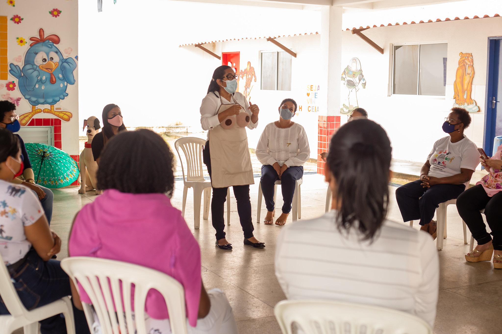 Roda de conversa da SPM incentiva aleitamento materno em Lauro de Freitas