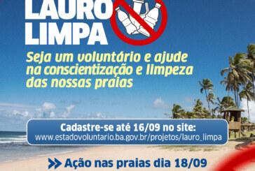 Projeto 'Lauro Limpa' mobiliza voluntários para limpeza das praias neste sábado (18)