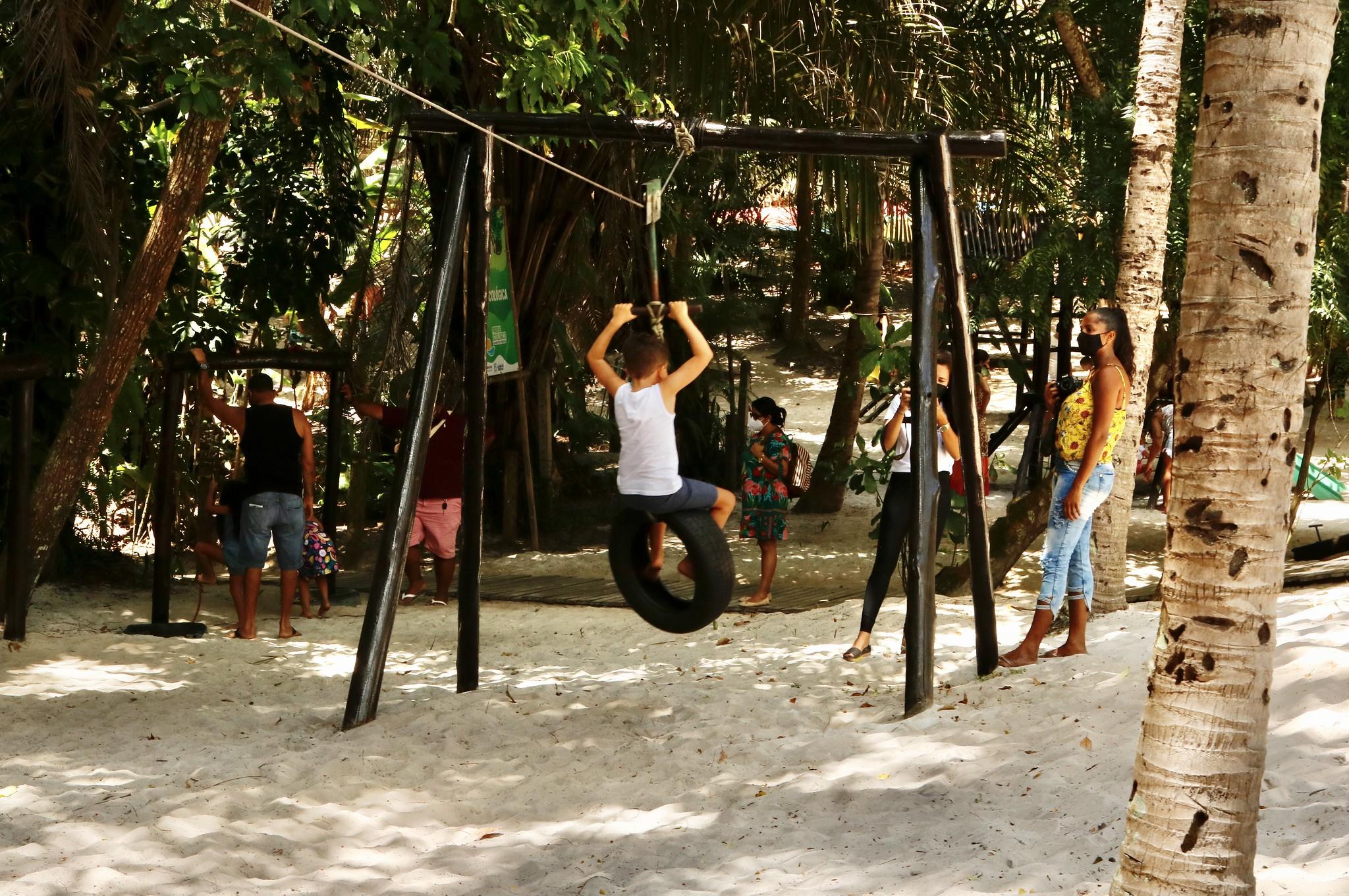 Parque ecológico de Lauro de Freitas já recebeu mais de 1.800 visitantes em três dias de reabertura
