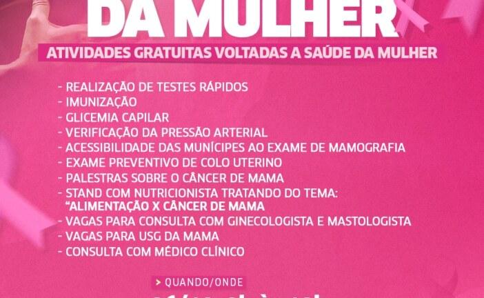 Prefeitura realiza Feira de Saúde da Mulher com atividades gratuitas na Praça da Matriz nesta terça-feira (26)