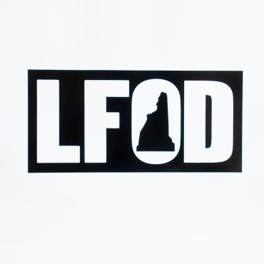 Black Classic Punchout LFOD Sticker