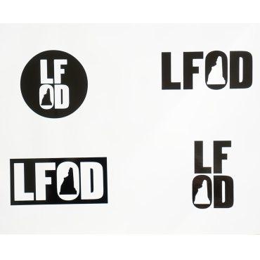 Black Vinyl LFOD Stickers