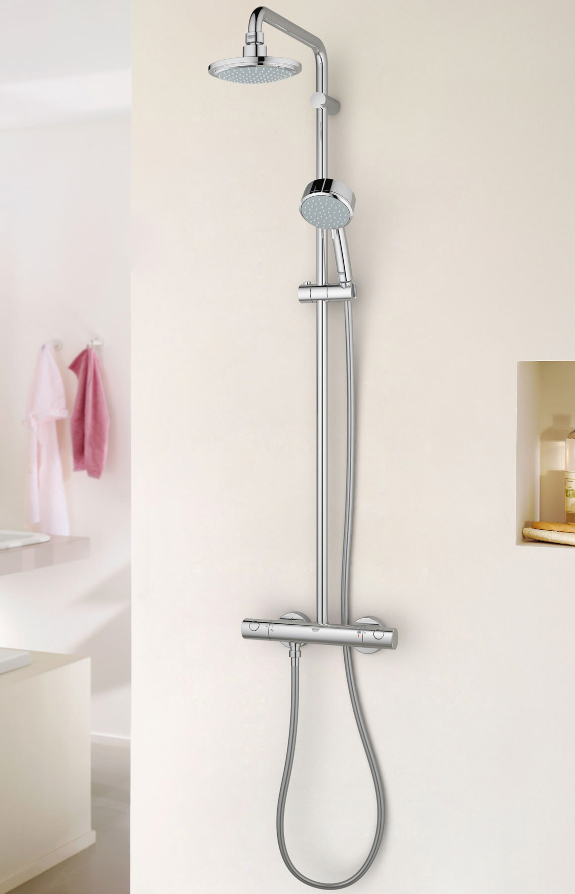 Grohe New Tempesta Cosmopolitan Shower System With Thermostat