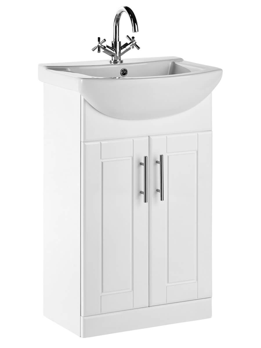 frontline aquachic white 500mm wide vanity unit