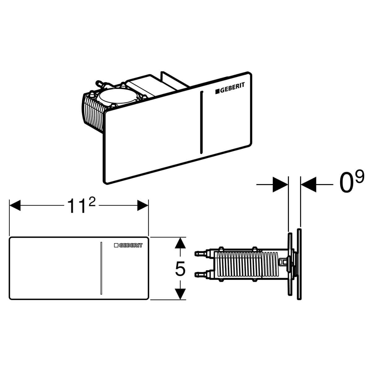 Geberit Omega70 Brushed Stainless Steel Dual Flush