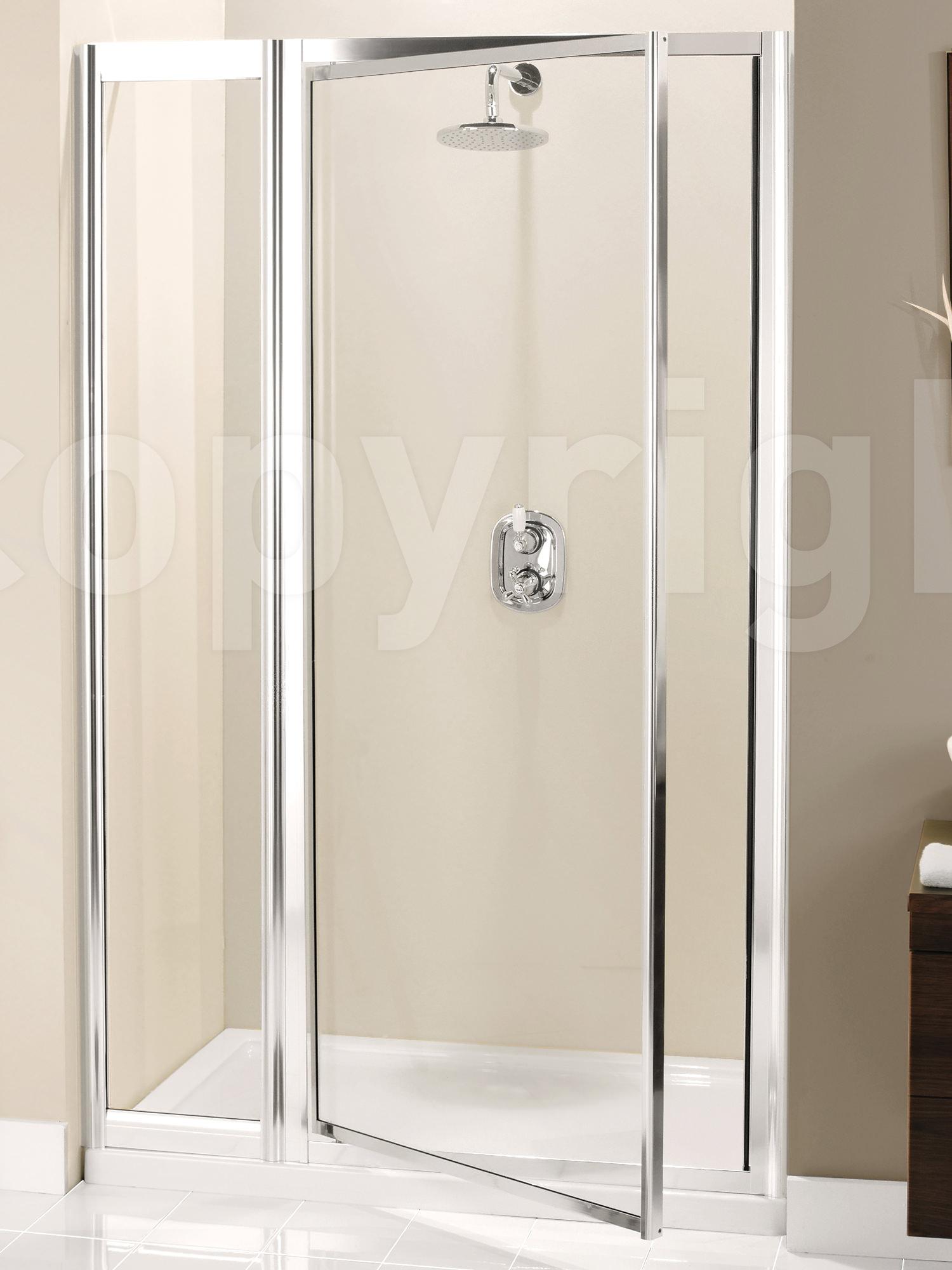 Simpsons Supreme 1100mm Pivot Shower Door With Inline Panel