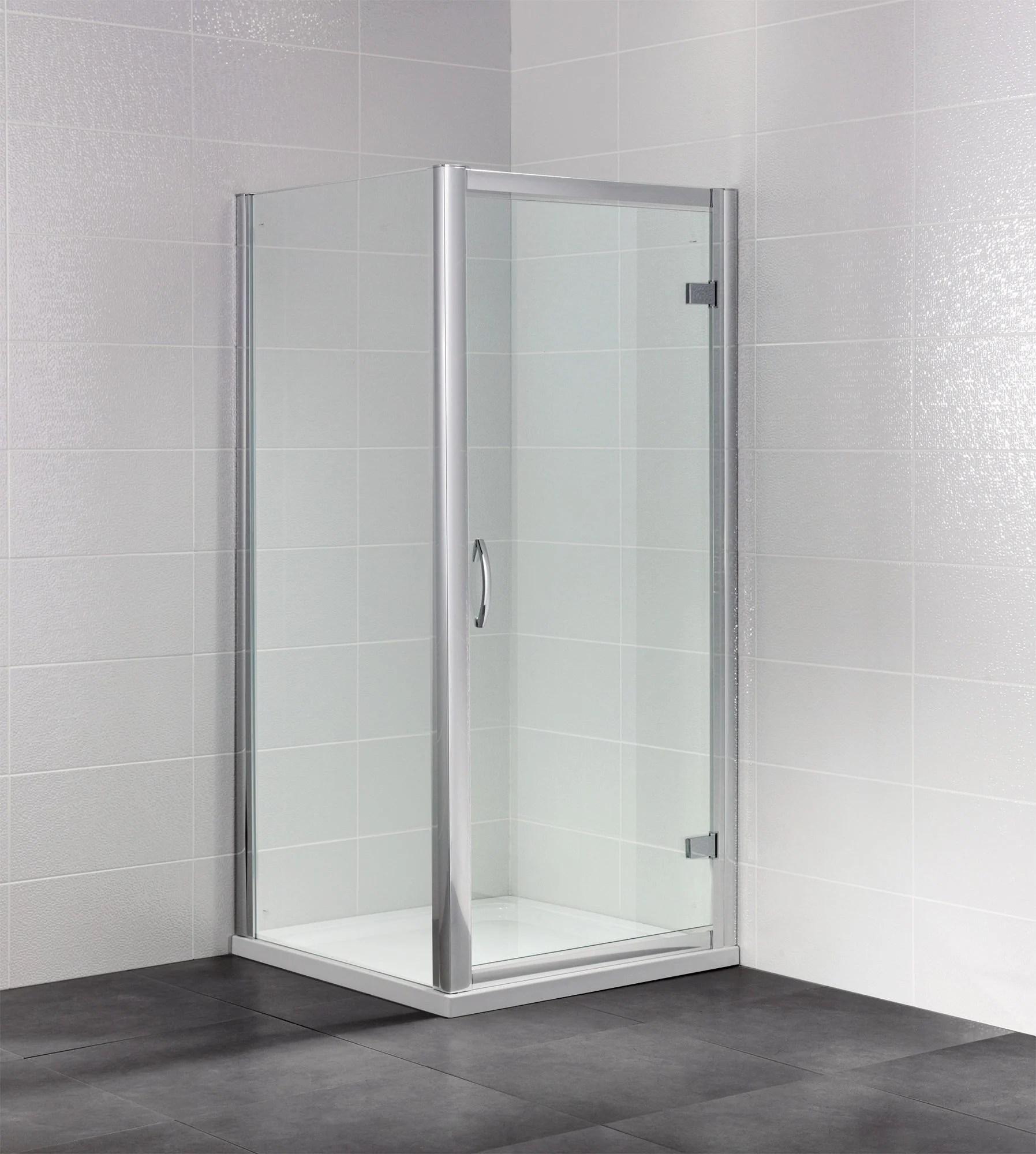 April Identiti2 1900mm High Semi Frameless Hinged Shower Door