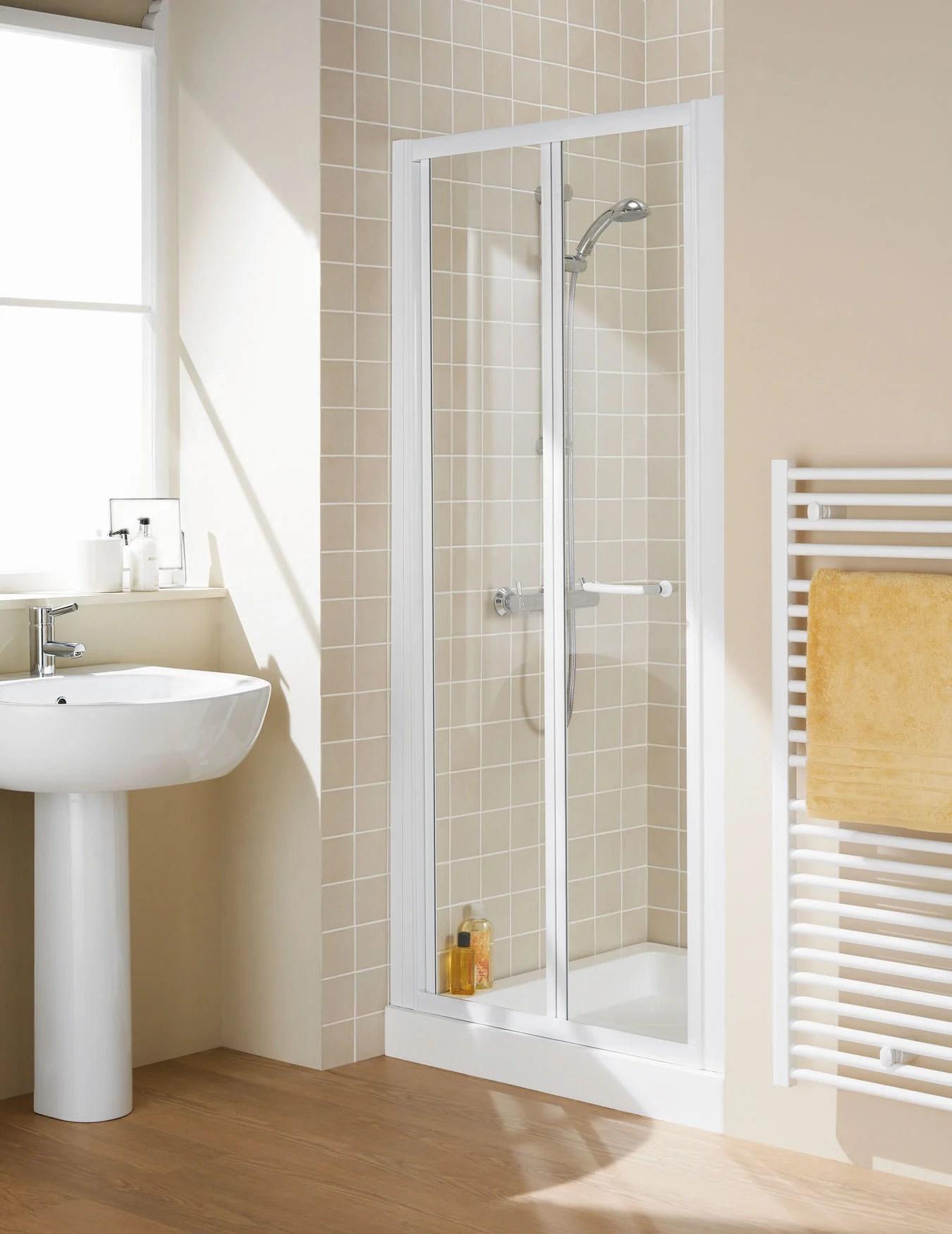 Lakes Classic Semi Frameless Bi Fold Door 1000 X 1850mm White